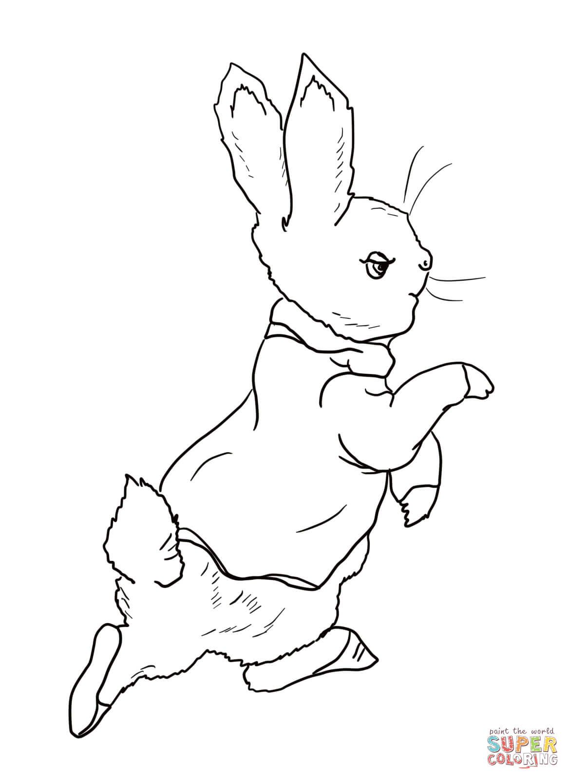 Peter Rabbit Is Going Into The Garden Coloring Page