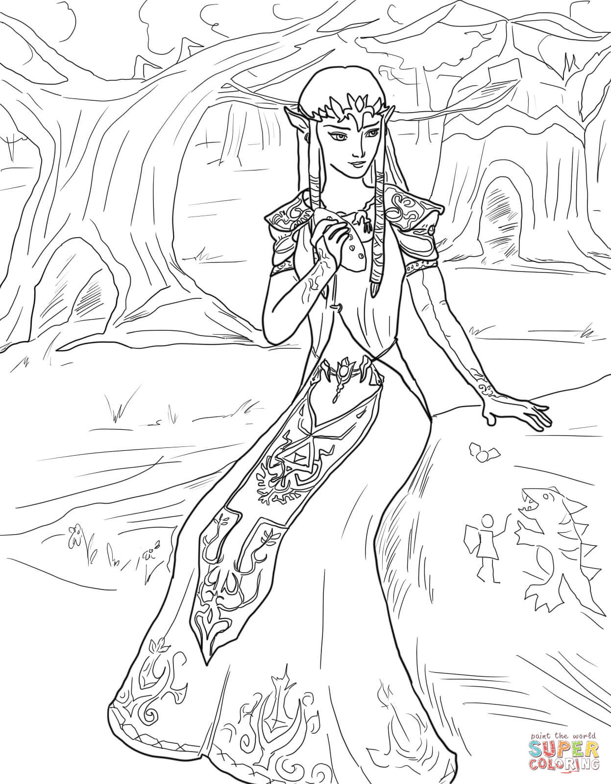 coloriage princesse zelda coloriages à imprimer gratuits