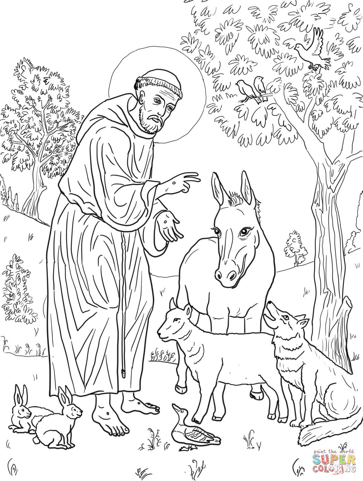 free coloring pages download st francis of assisi coloring page free printable coloring pages of