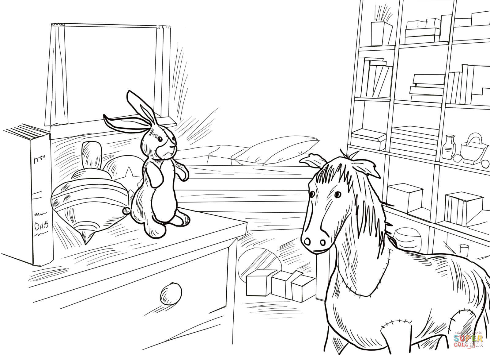 Velveteen Rabbit And Skin Horse Coloring Page