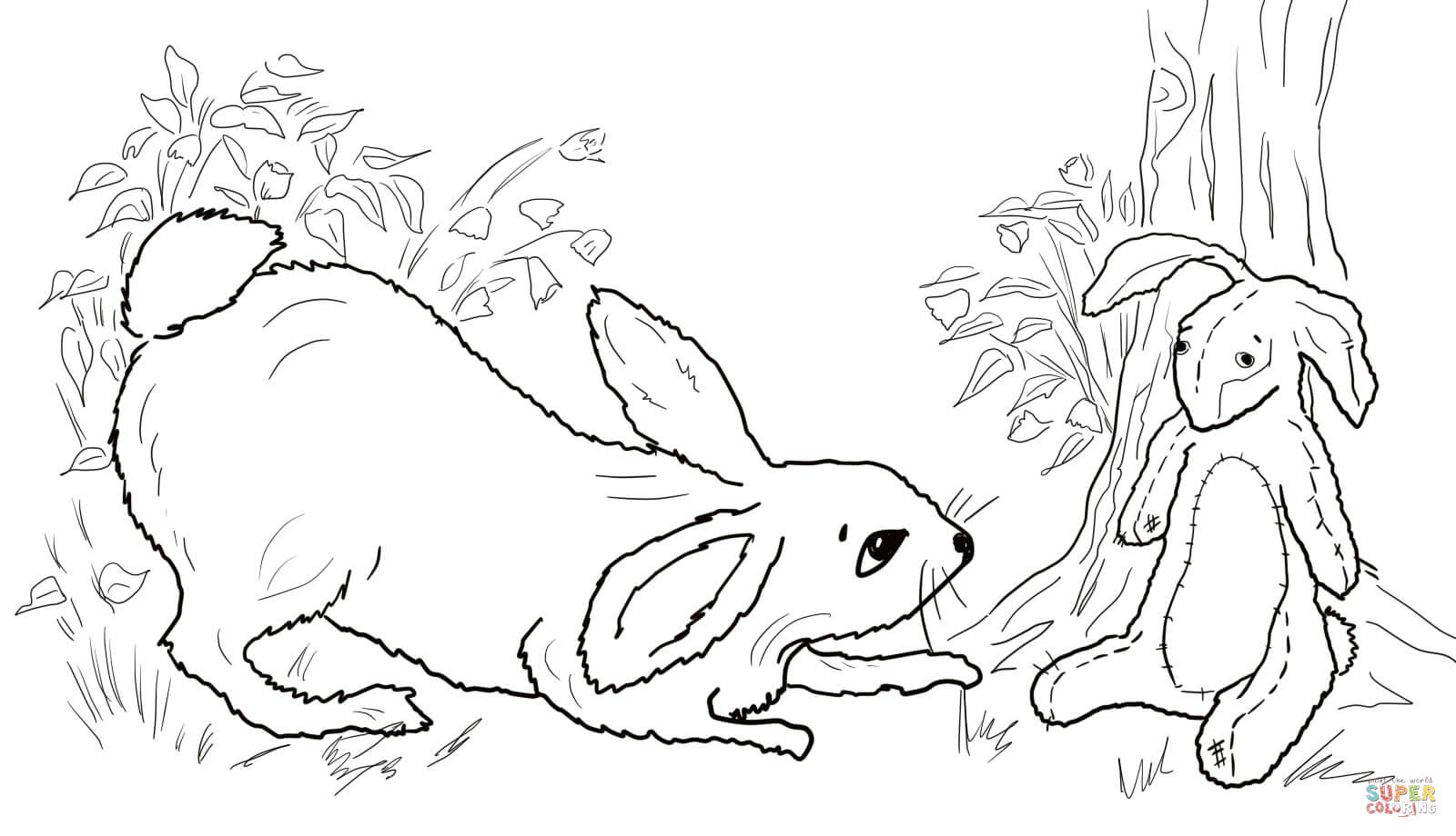 Velveteen Rabbit Becoming Real Coloring Page