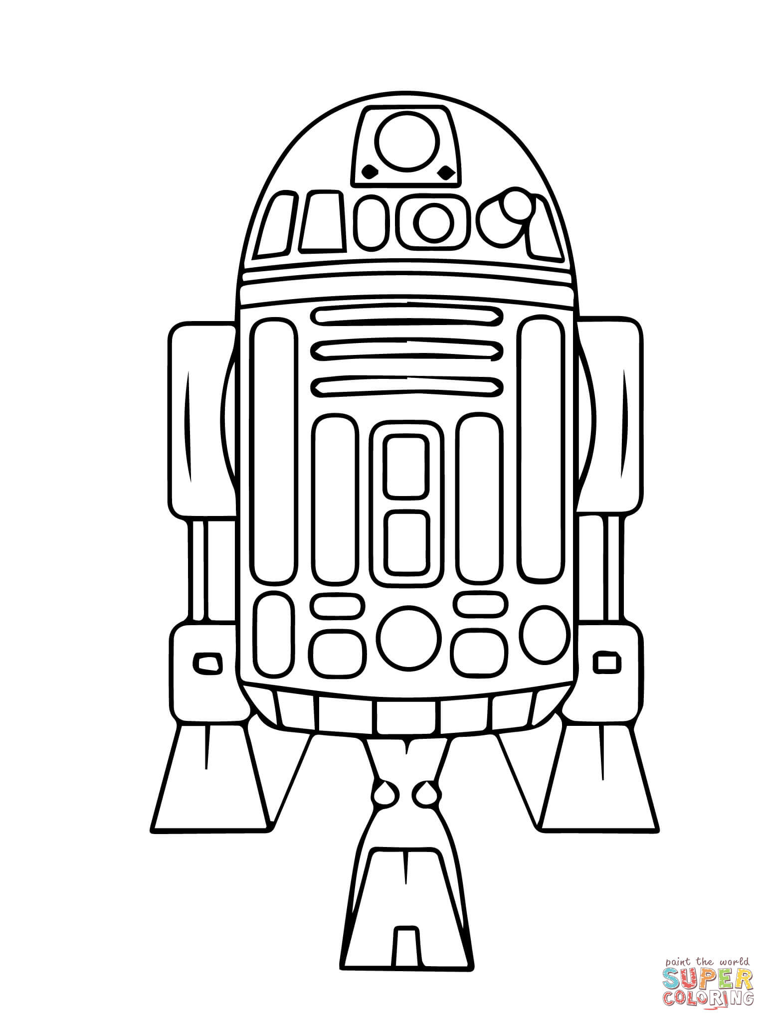 astromech droid r2 d2 coloring page free printable coloring pages