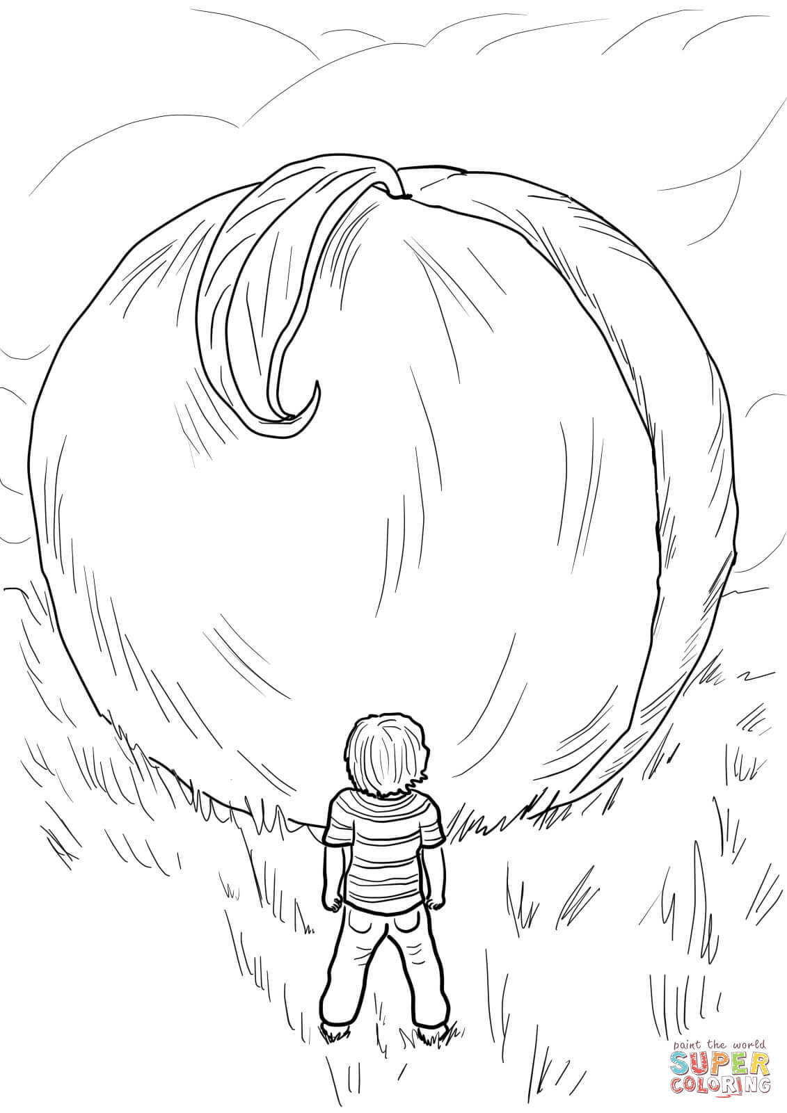 James And The Giant Peach Coloring Page