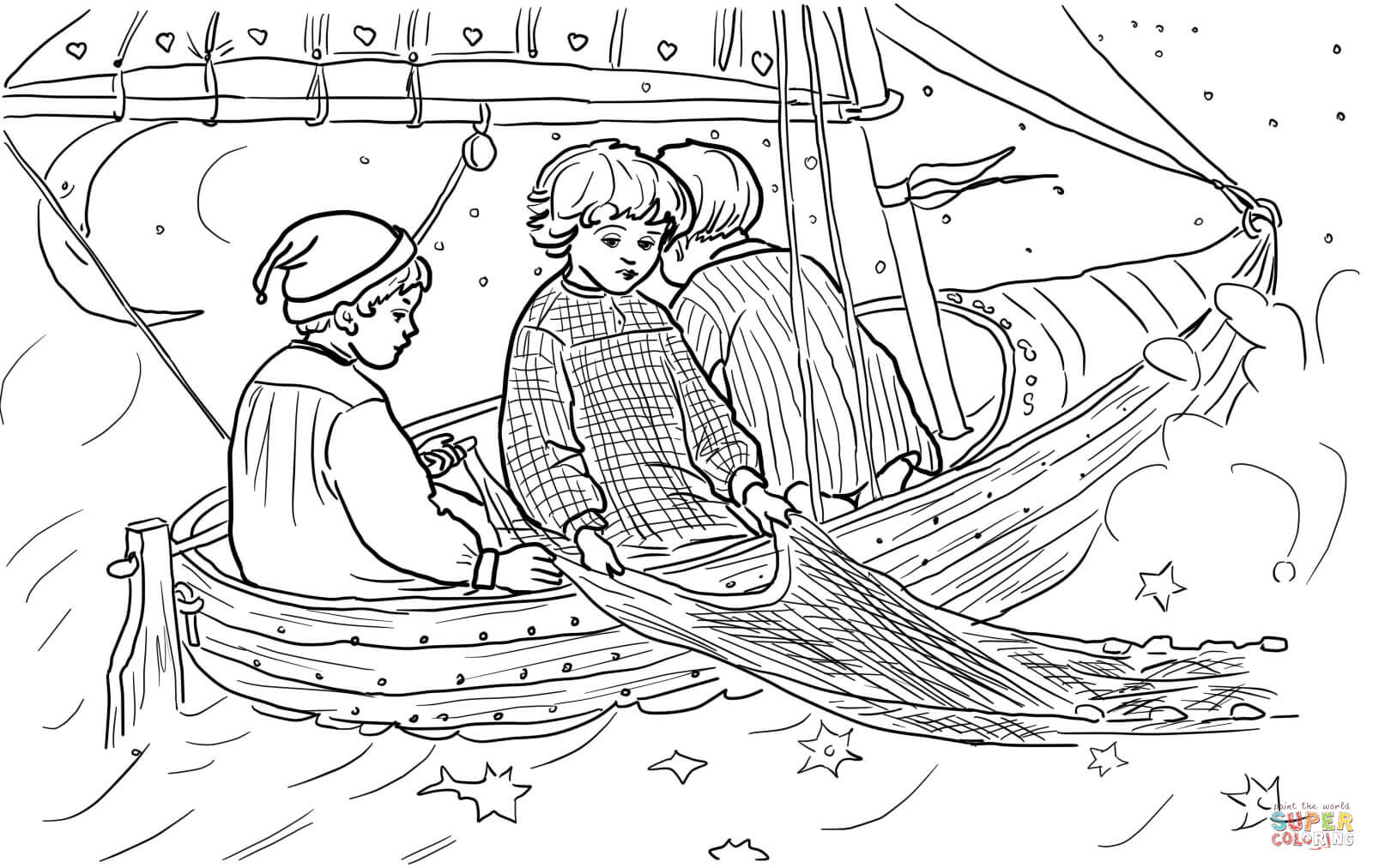 Wynken Blynken And Nod Coloring Page