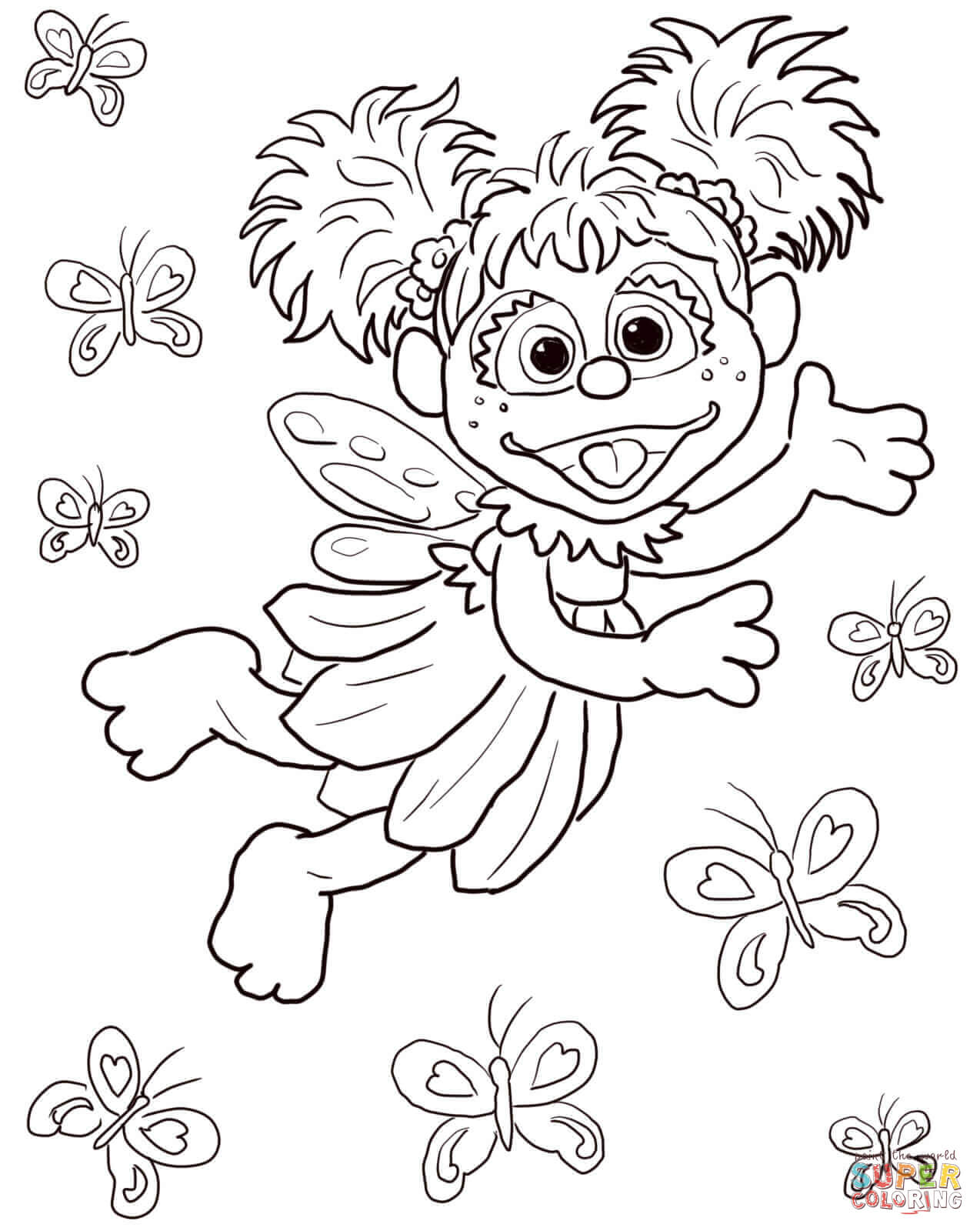 Abby Cadabby Coloring Pages Free Coloring Pages Download   Xsibe ...