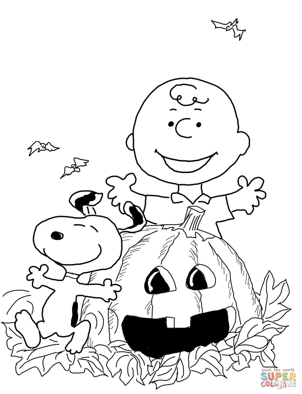 click the charlie brown halloween coloring pages color pages for