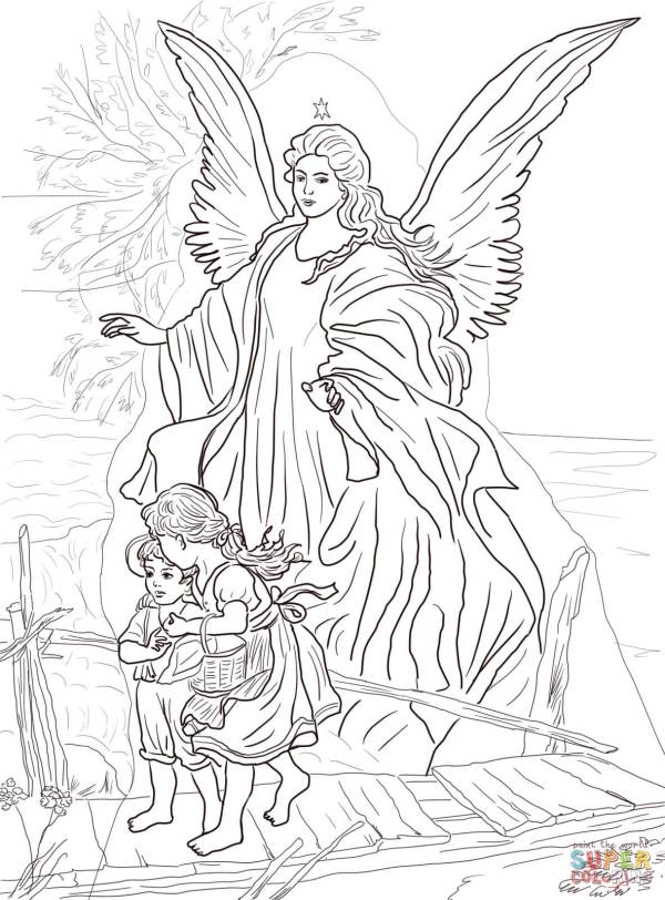 angels coloring pages # 10