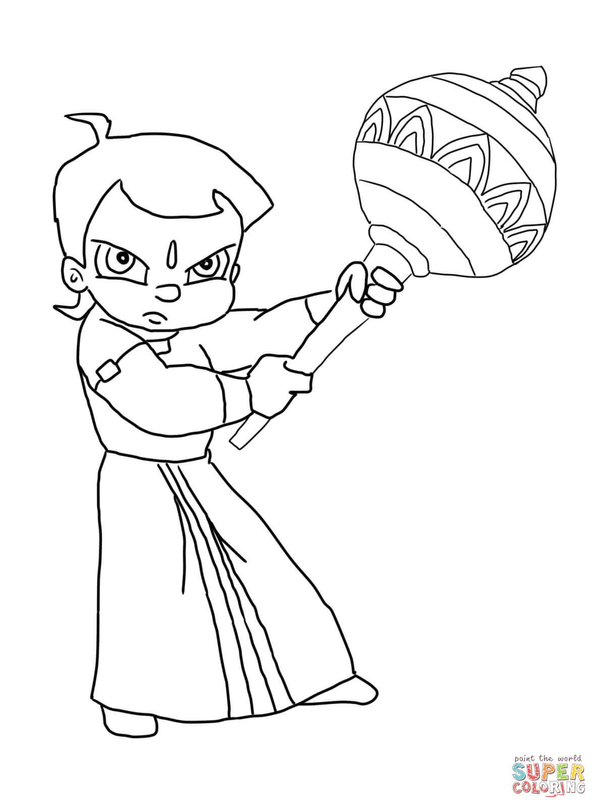 Chhota Bheem And The Curse Of Damyaan Coloring Page Free
