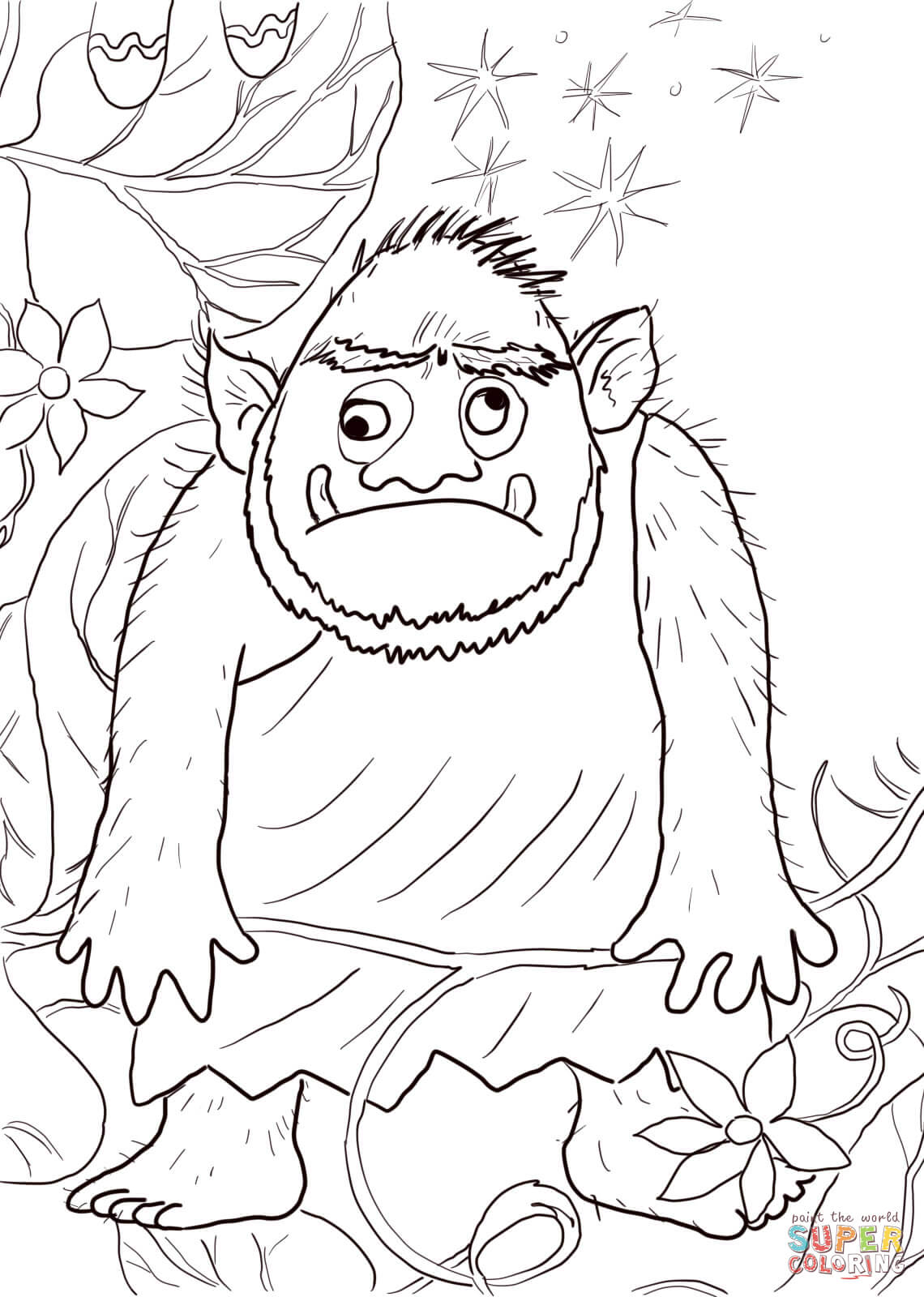 Giant From Jack And The Beanstalk Coloring Page