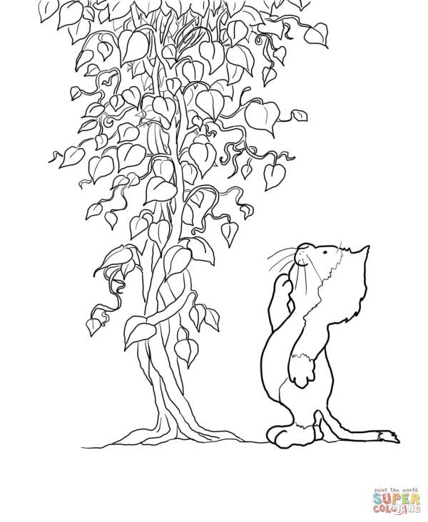 jack and the beanstalk coloring pages # 18