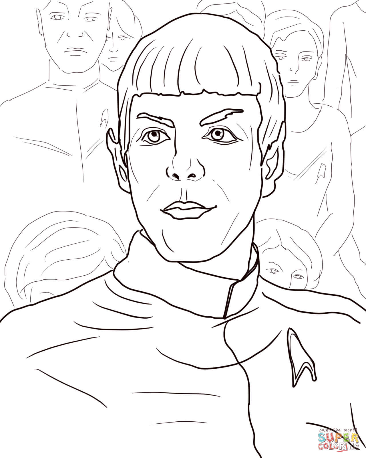 star trek into darkness coloring page free printable coloring pages