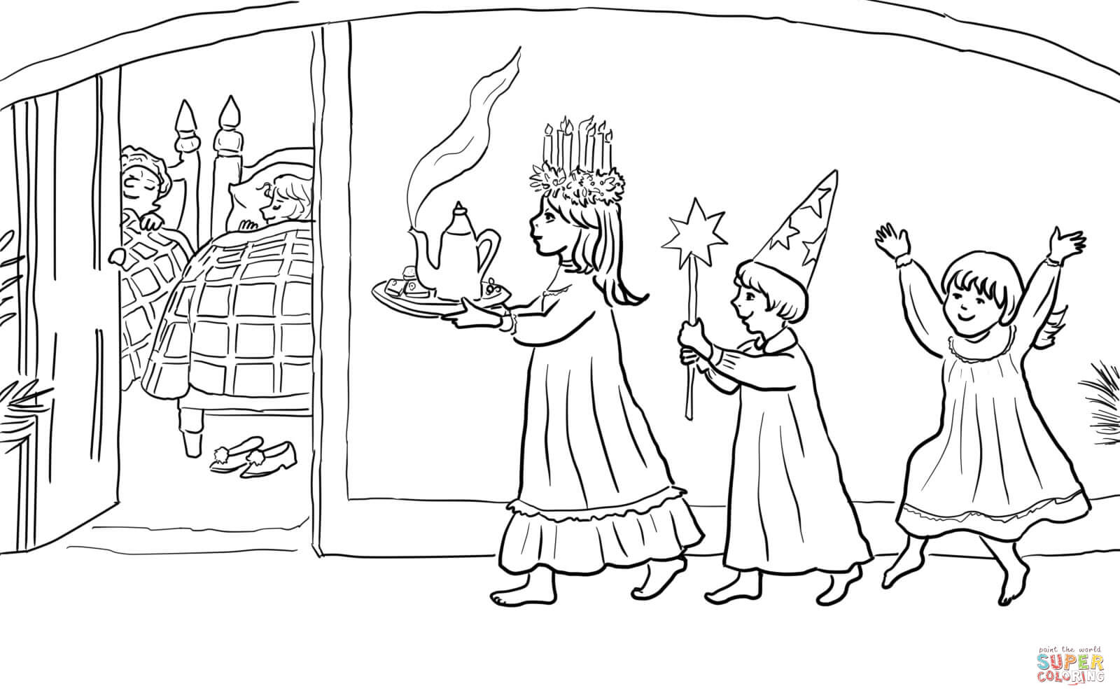 St Lucia S Day Coloring Page