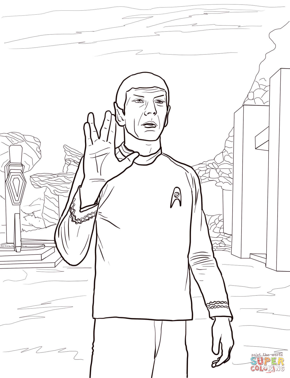Star Trek Spock Coloring Page