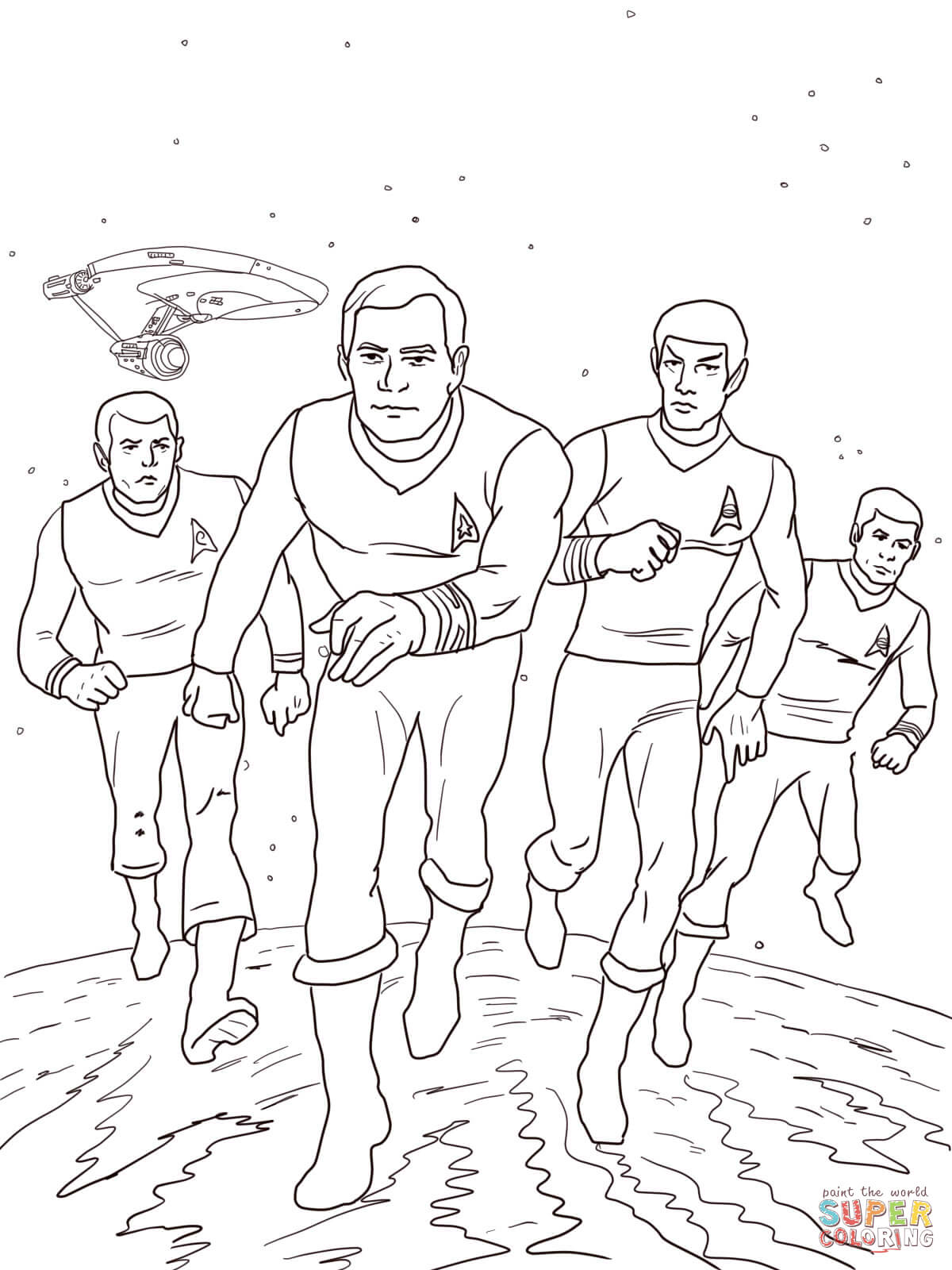 star trek coloring pages