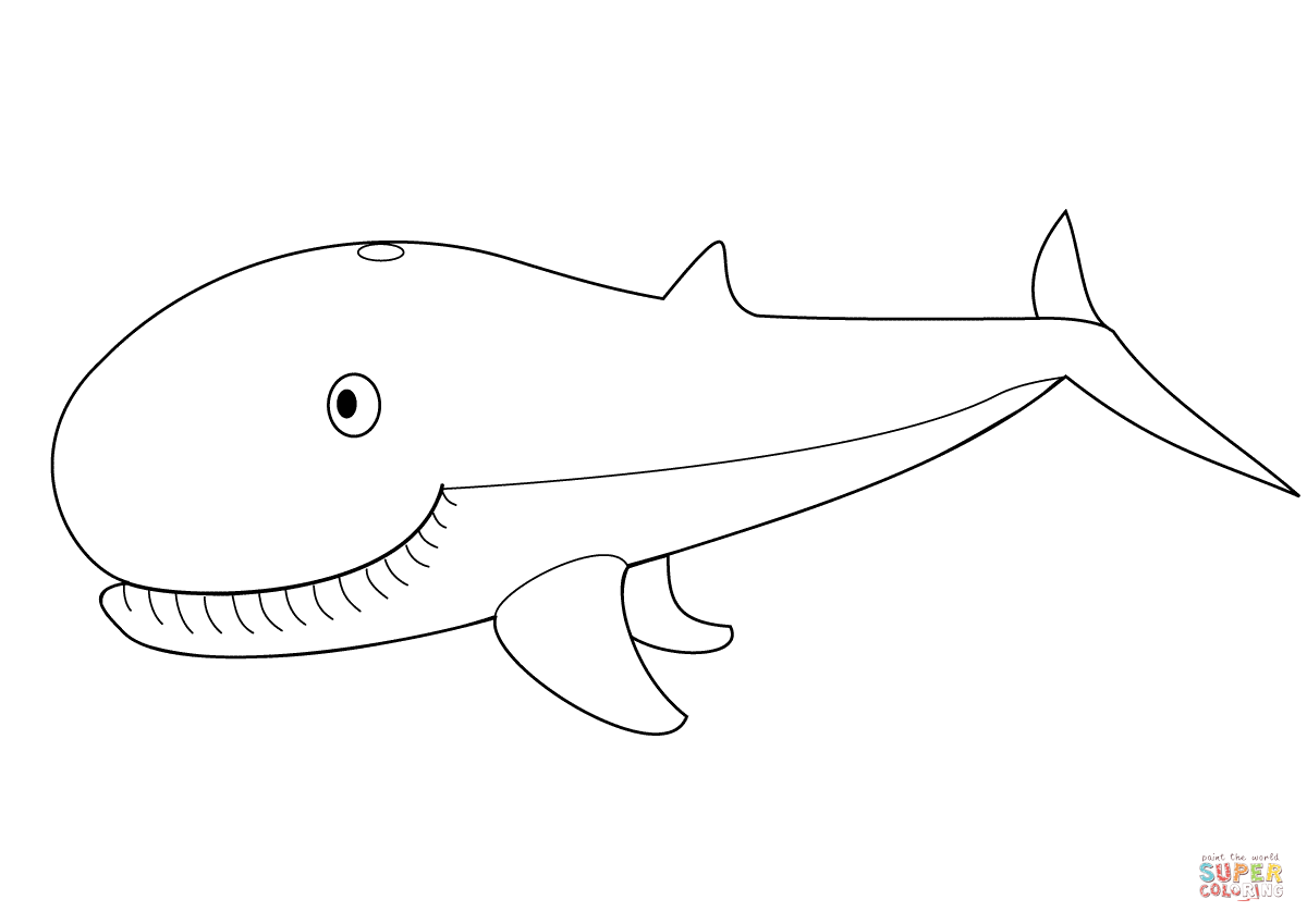 Cute Whale Coloring Page