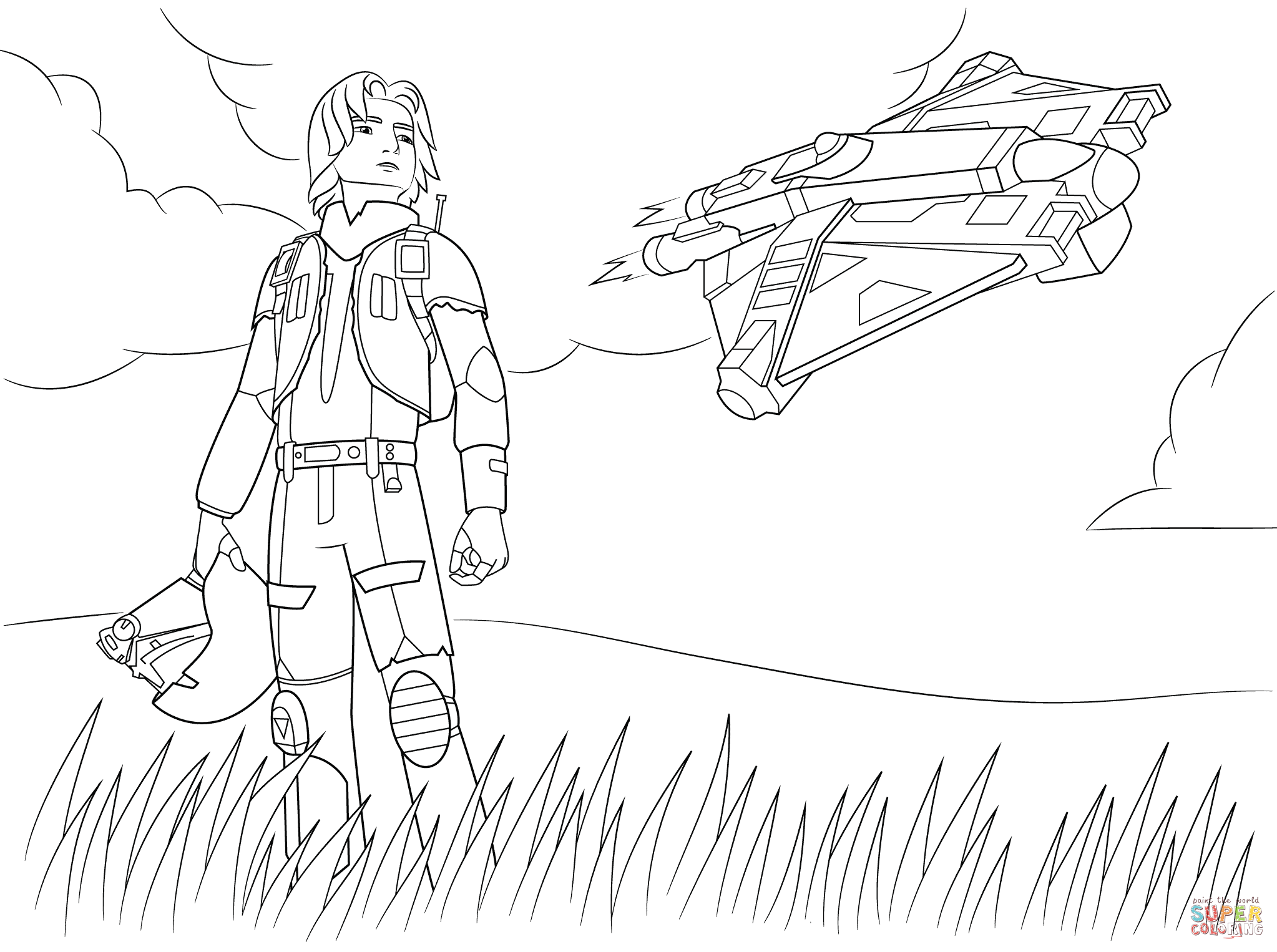 Star War Rebels Coloring Pages Star Wars 040 Coloring Page Free