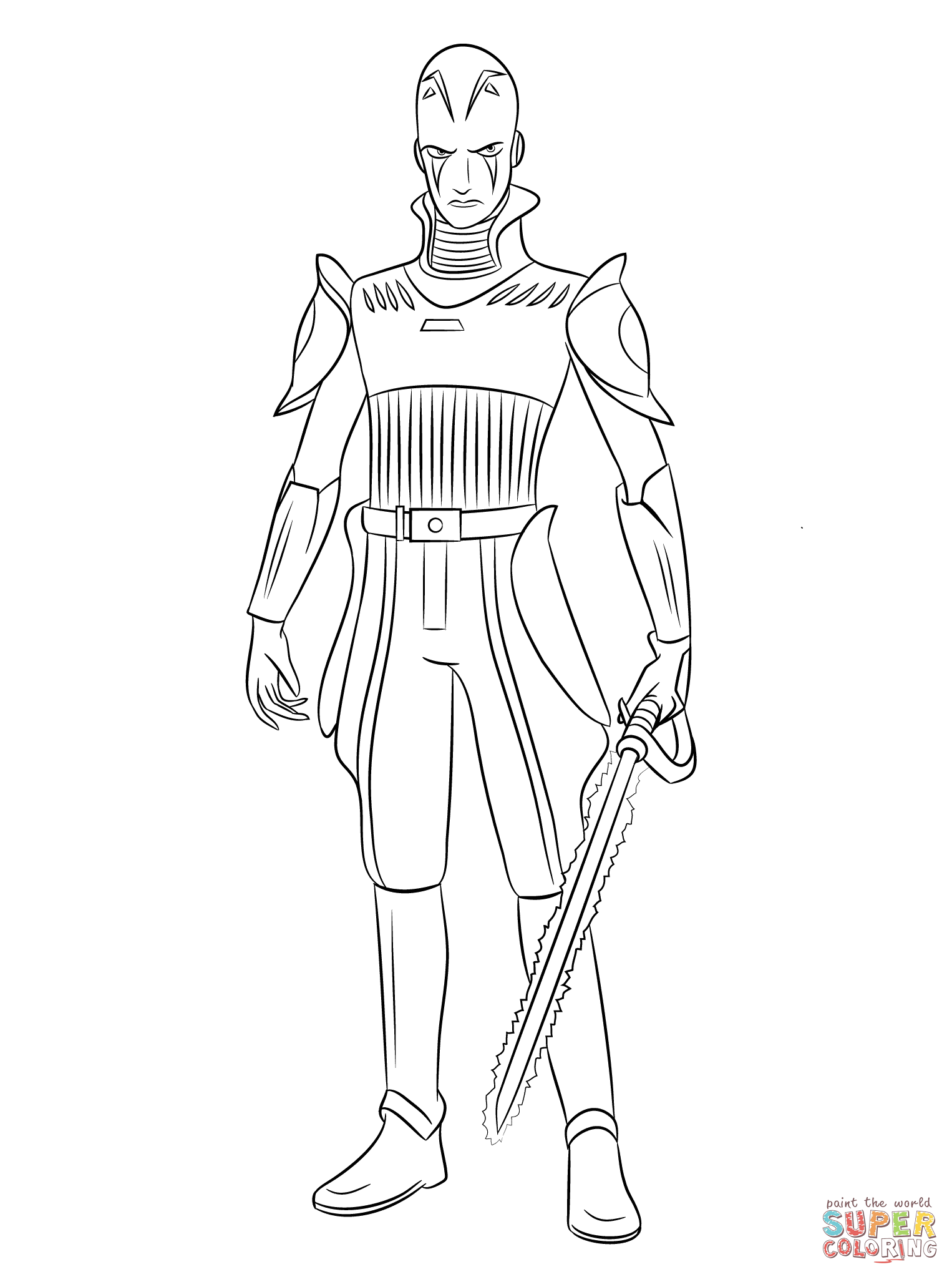 Star Wars Rebels The Inquisitor Coloring Page Free Printable