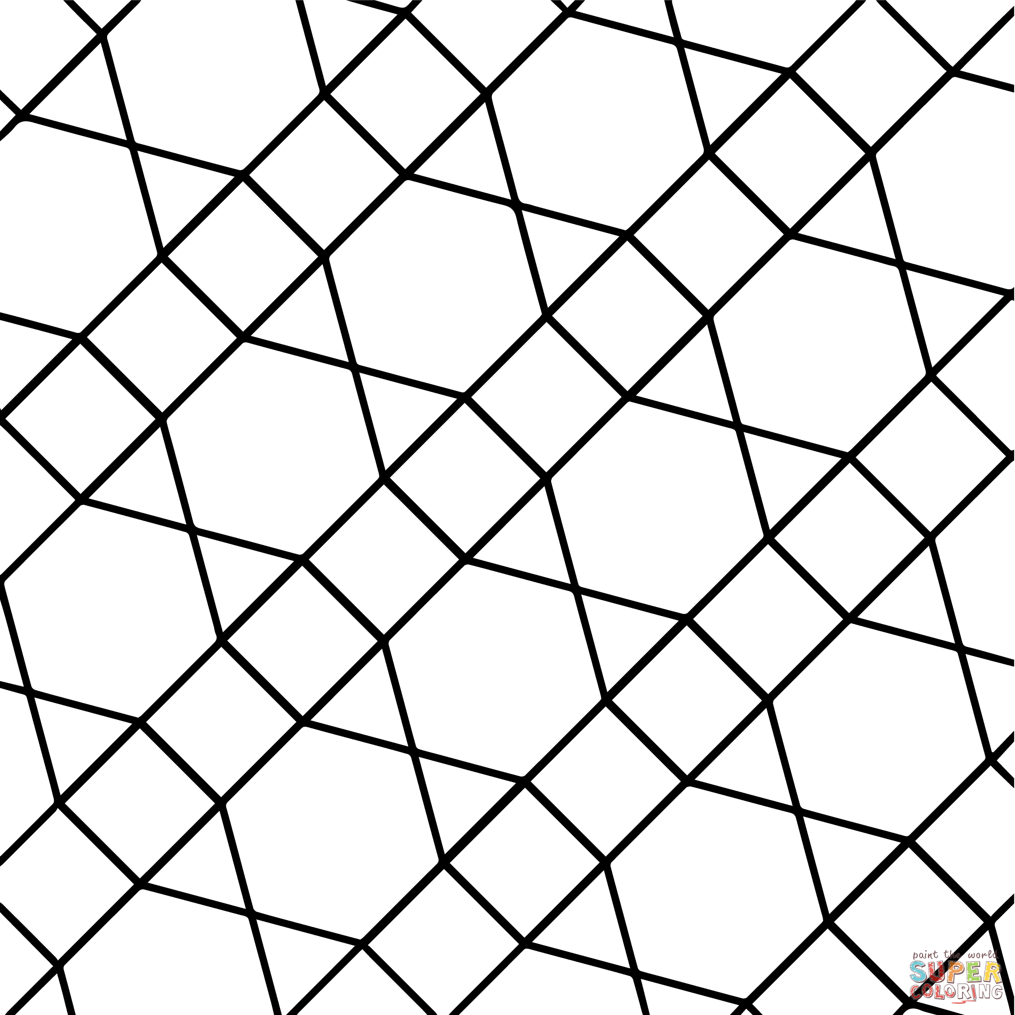 Geometric Tessellation With Hexagon Triangle And Square