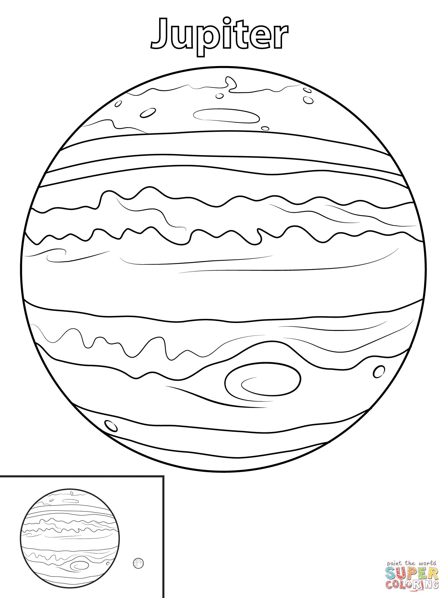 Dibujo De Planeta Jupiter Para Colorear