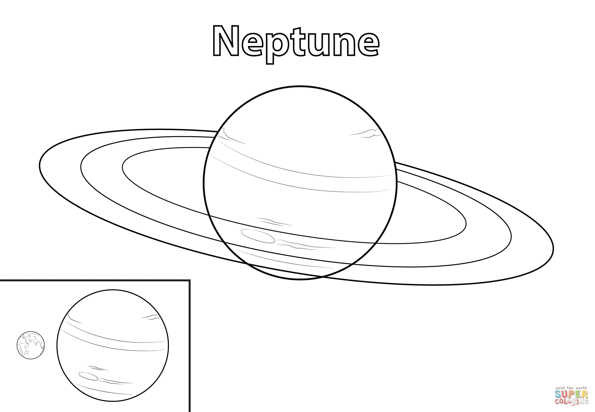 Neptune Planet Coloring Pages