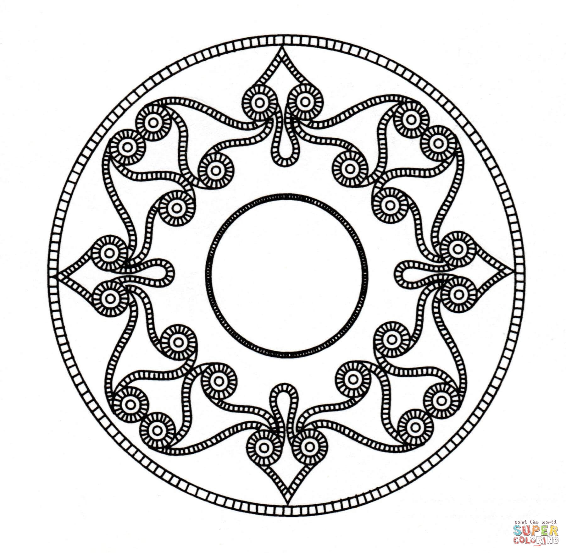 Celtic Mandala Coloring Page Free Printable Coloring Pages