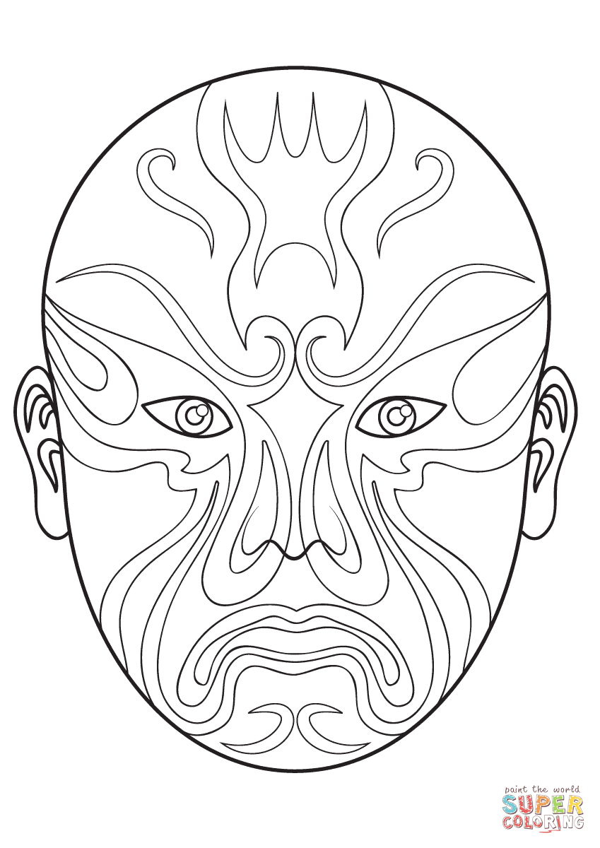 Mexico themed coloring pages