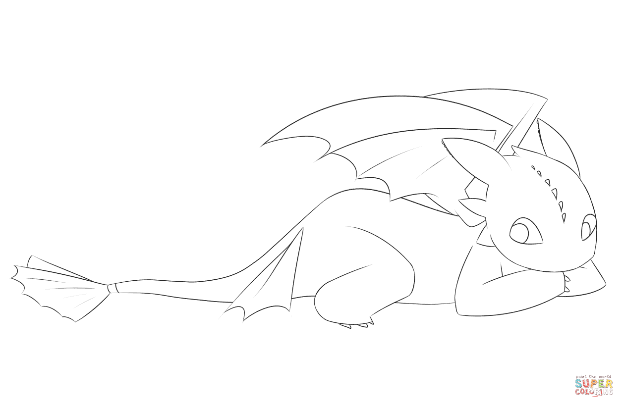 cute toothless coloring page free printable coloring pages