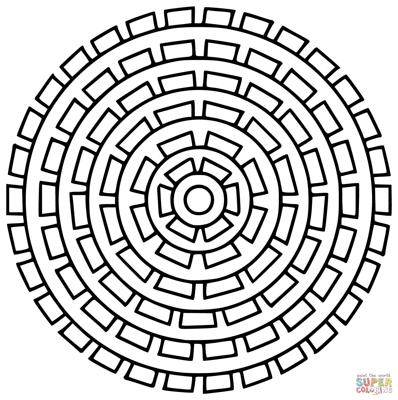 Kolorowanka Mandala S O Ce