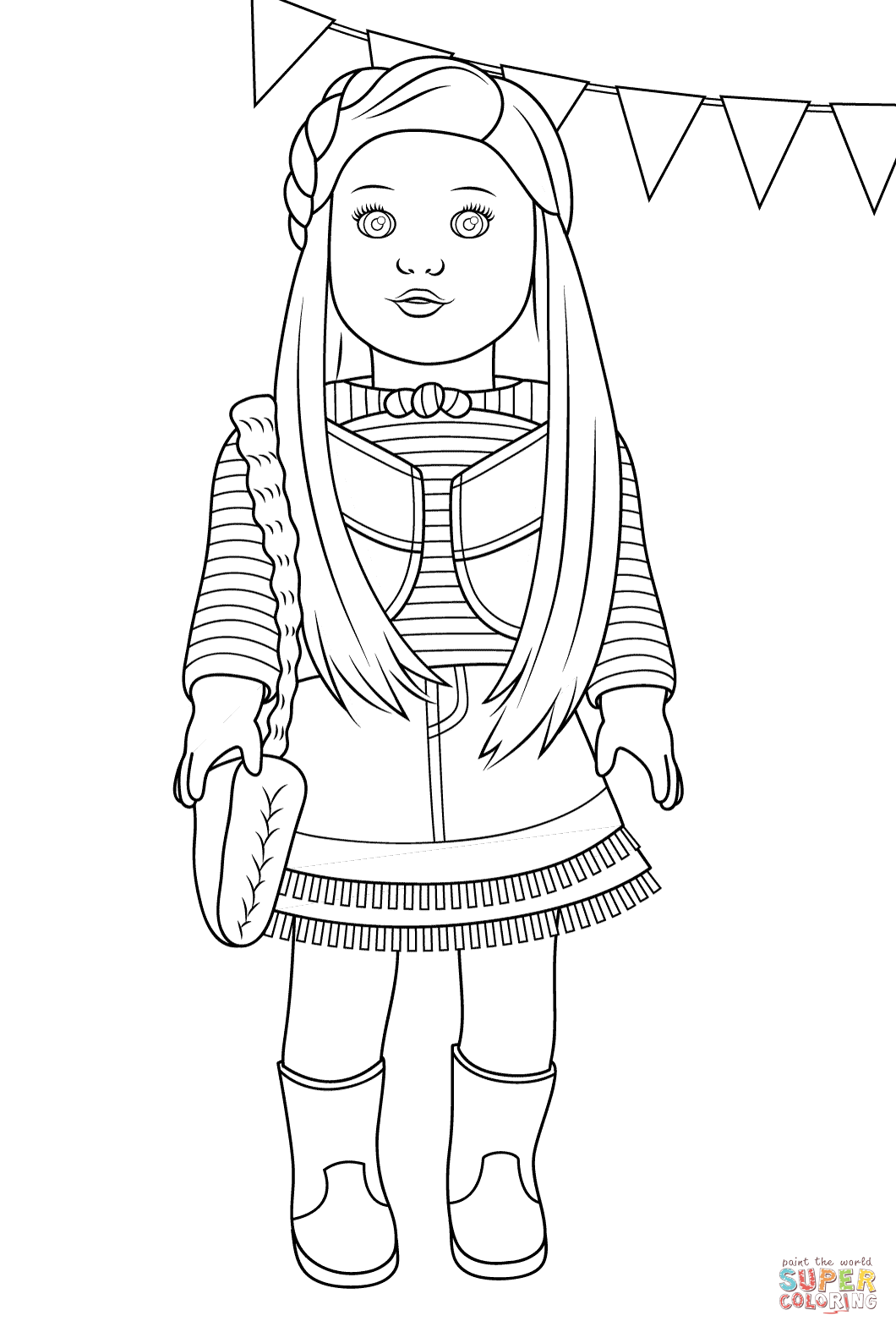 american girl mckenna coloring page free printable coloring pages