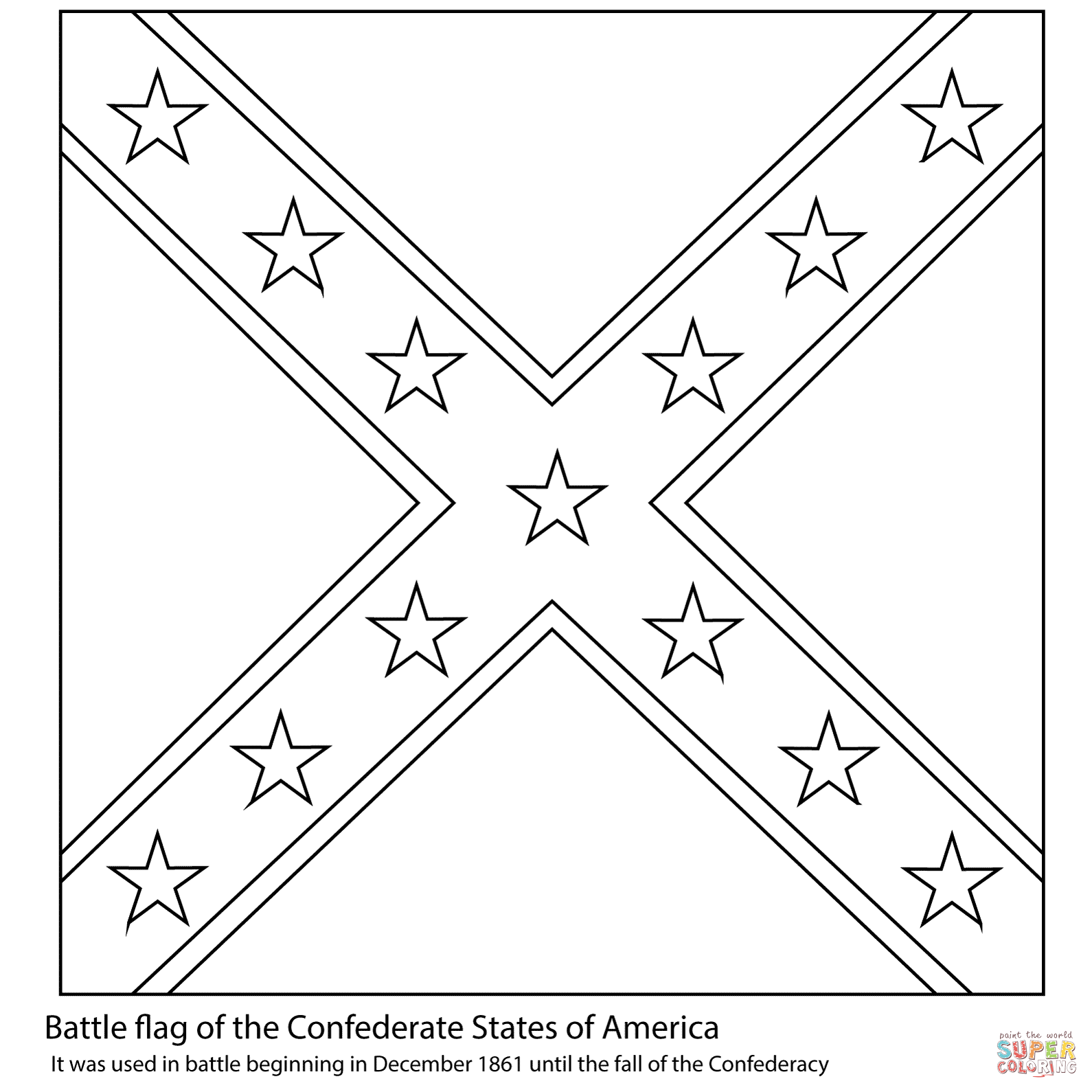Battle Flag Of The Confederate States Of America Coloring
