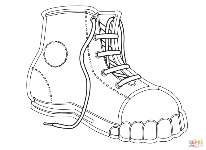 Click The Canvas Shoe Coloring Pages To View Printable