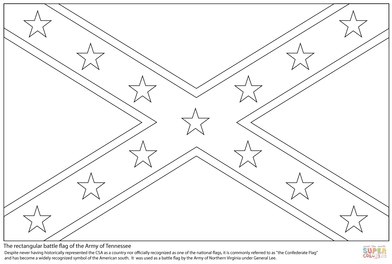 Confederate Flag Coloring Page