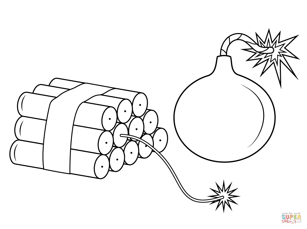 Dynamite Coloring Page