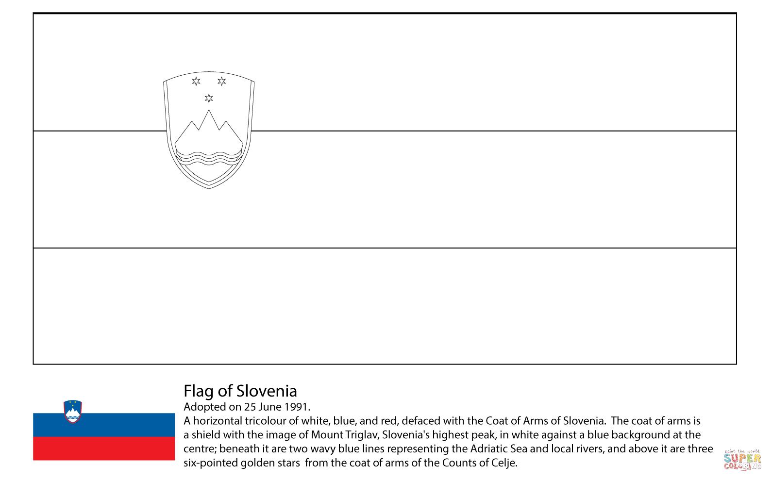 Ausmalbild Flagge Von Slowenien