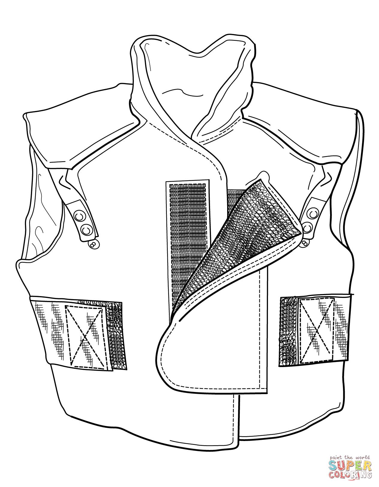 Flak Vest Coloring Page