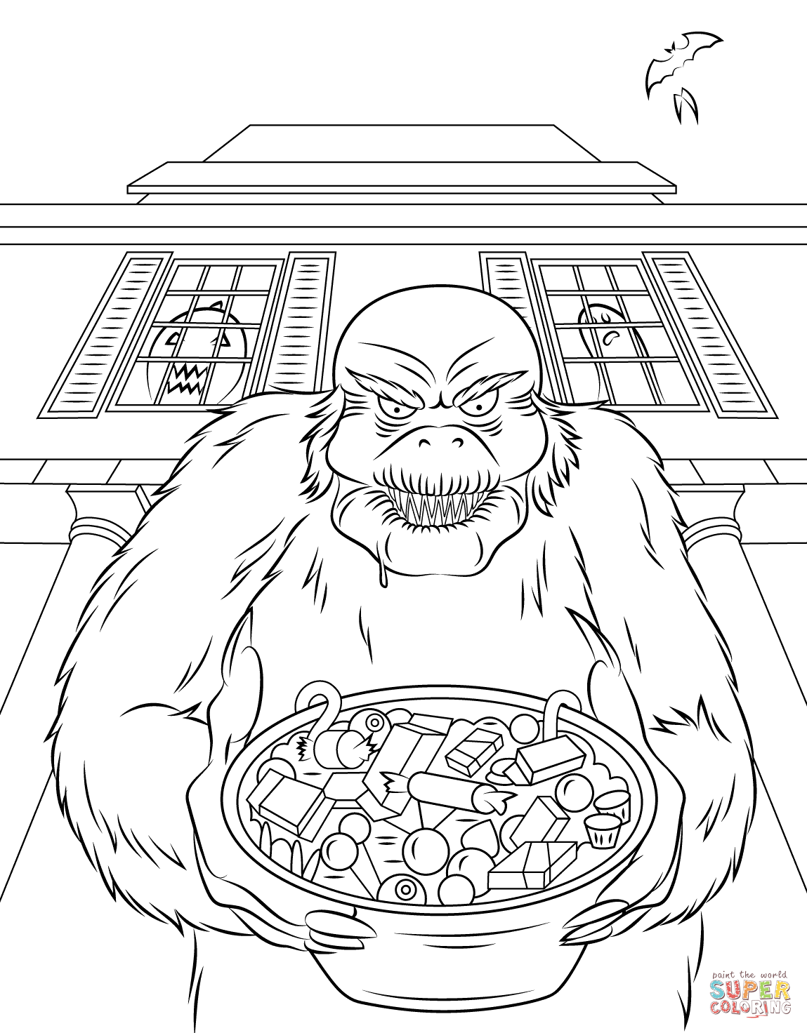 Goosebumps Coloring Page