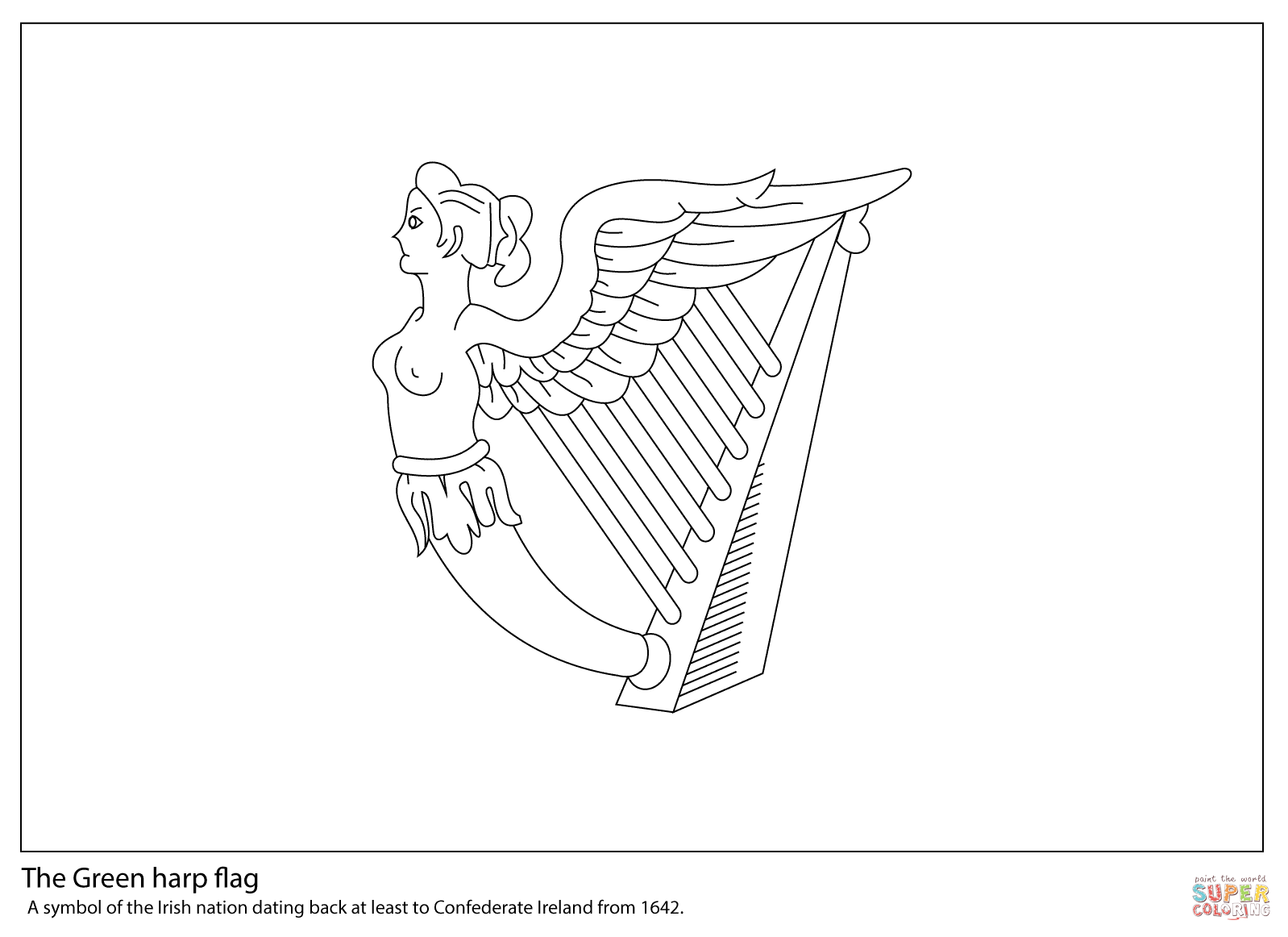 irish flag coloring page free printable of the world coloring