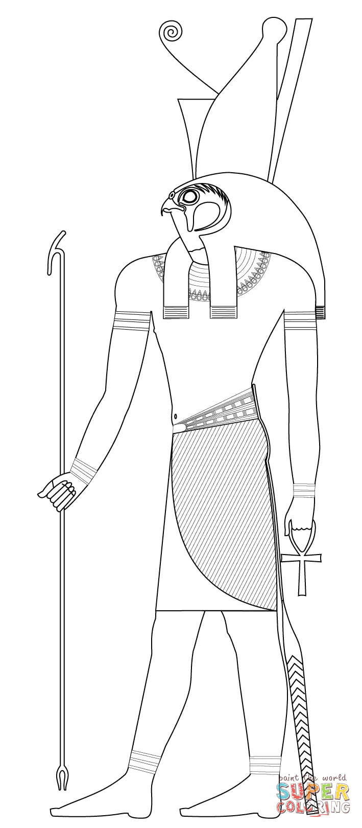 Egyptian Gods Coloring Pages Free Coloring Pages Download | Xsibe ...