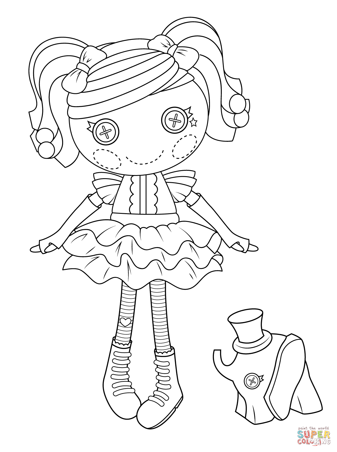 Lalaloopsy Peanut Big Top Coloring Page
