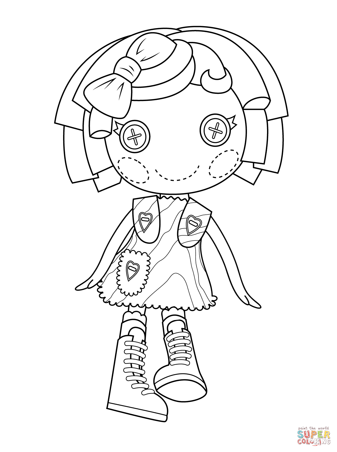 Lalaloopsy Pillow Featherbed Coloring Page Free Printable