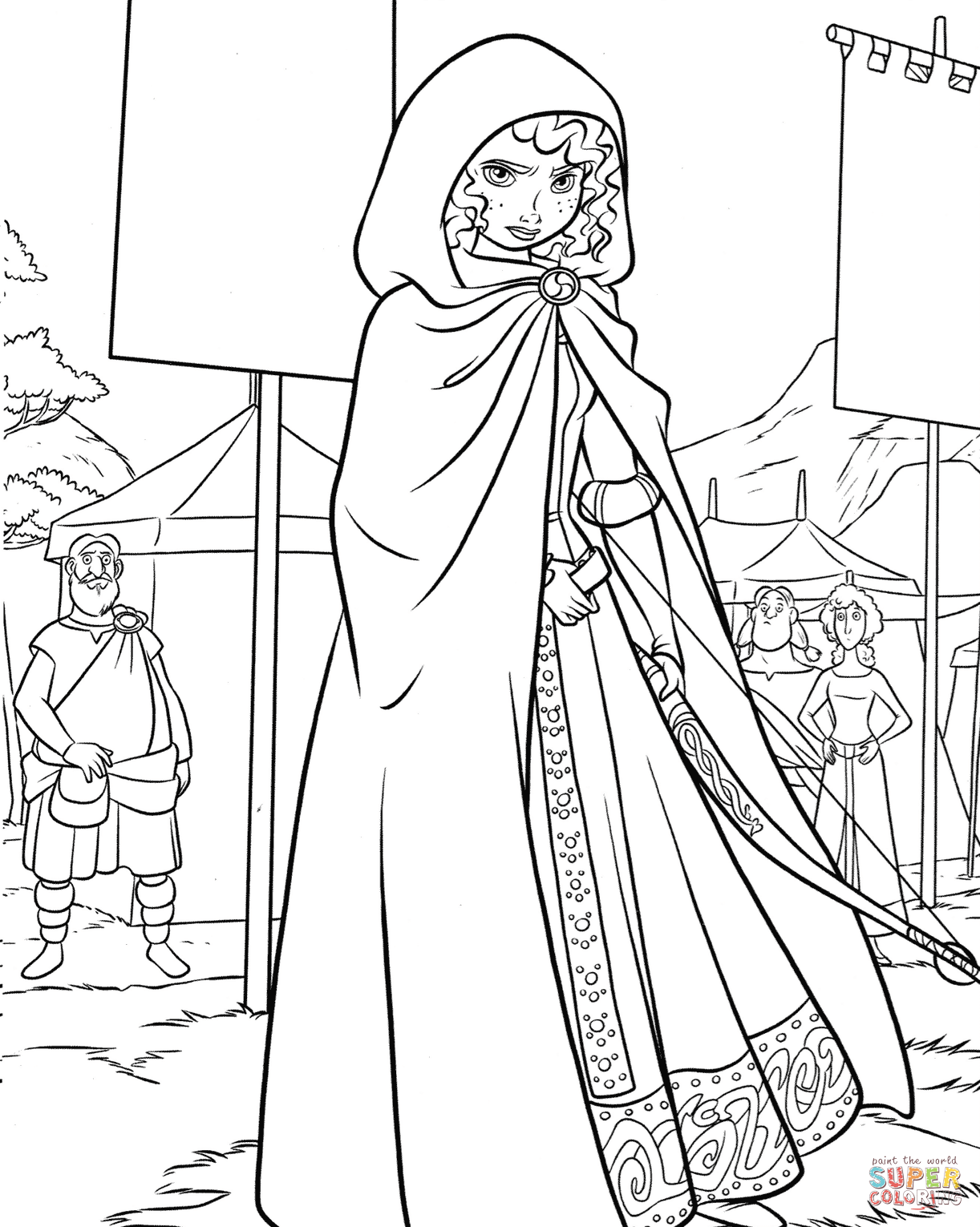 Princess Merida On A Highland Games Coloring Page