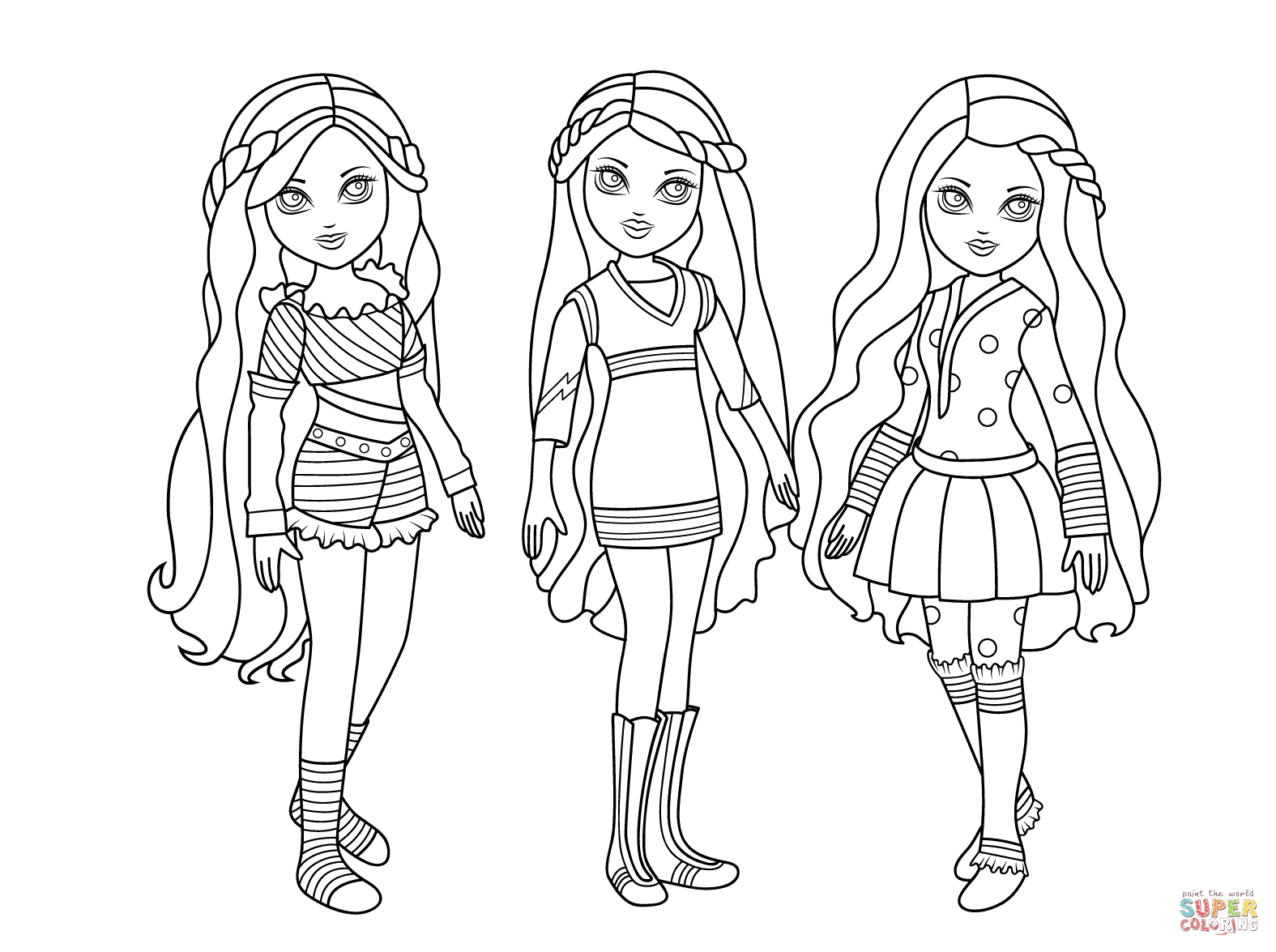 Moxie Dolls Coloring Page