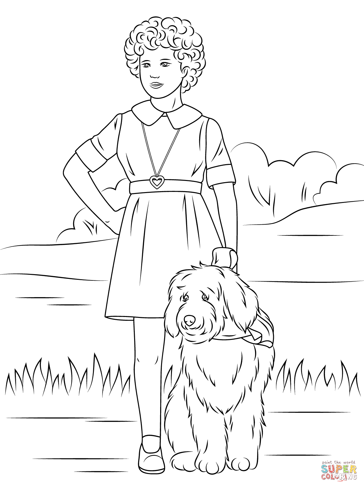 Orphan Annie With One Lung Coloring Page Free Printable Coloring