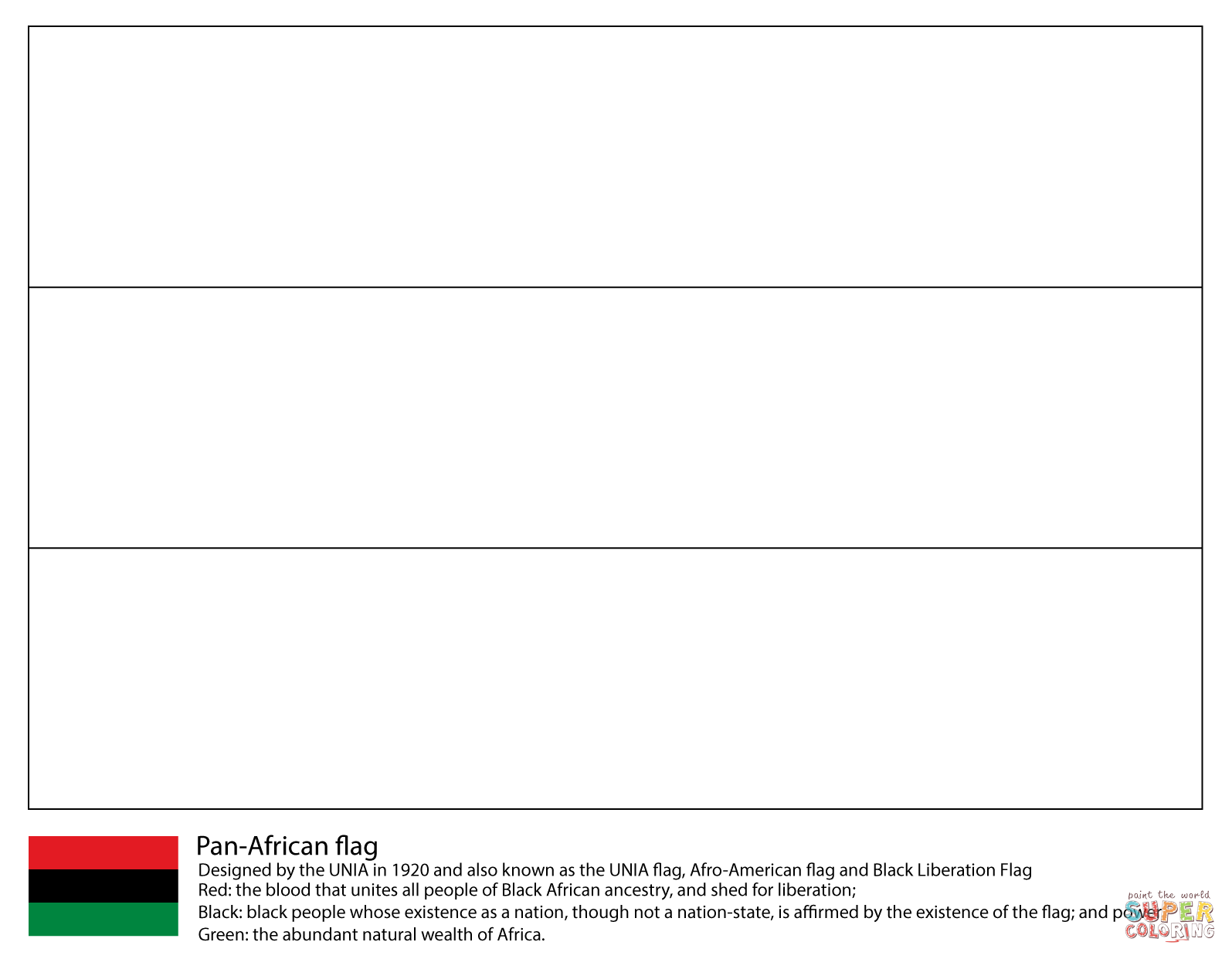 pan african flag coloring page free printable coloring pages