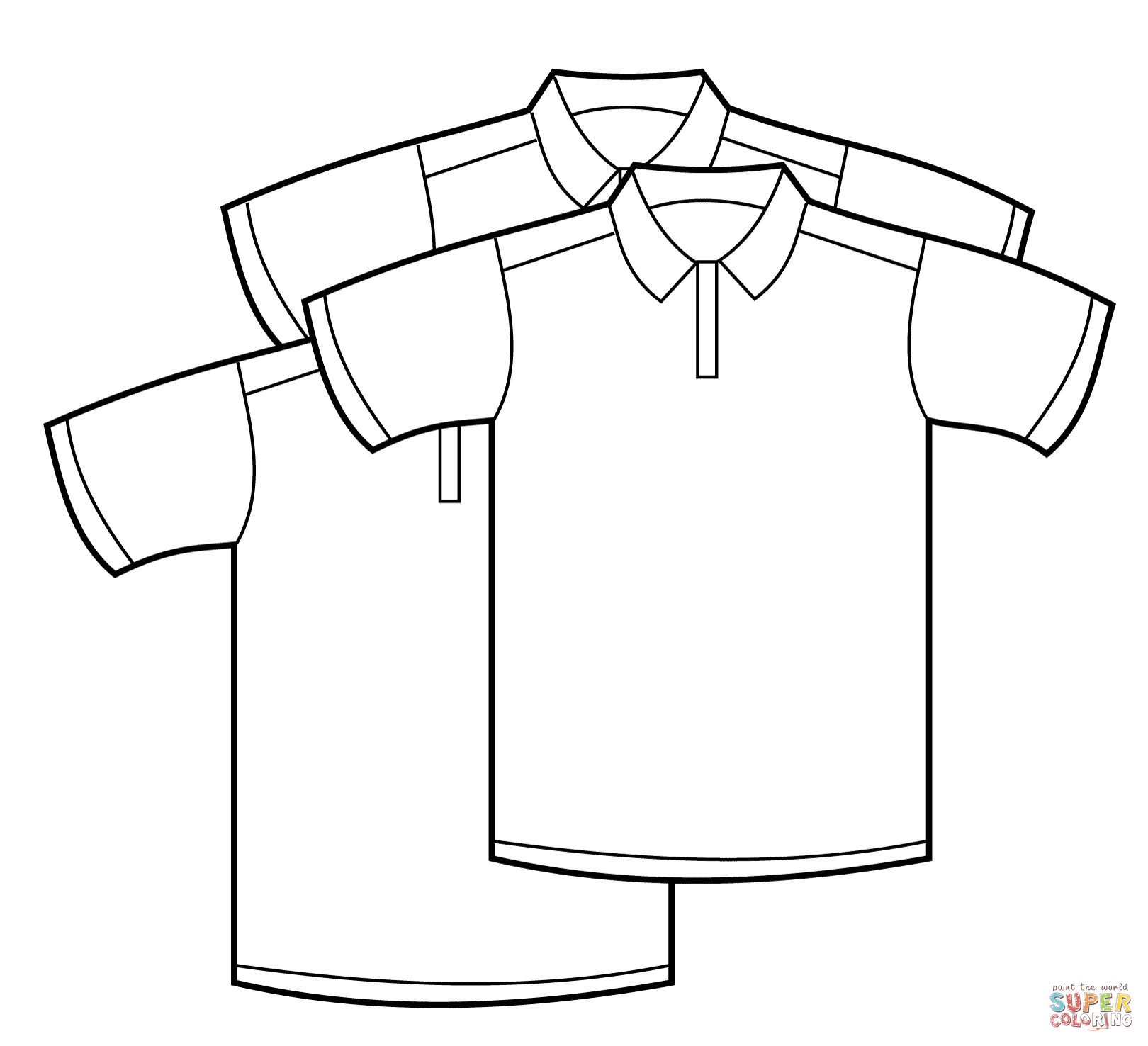 Polo Shirts Coloring Page