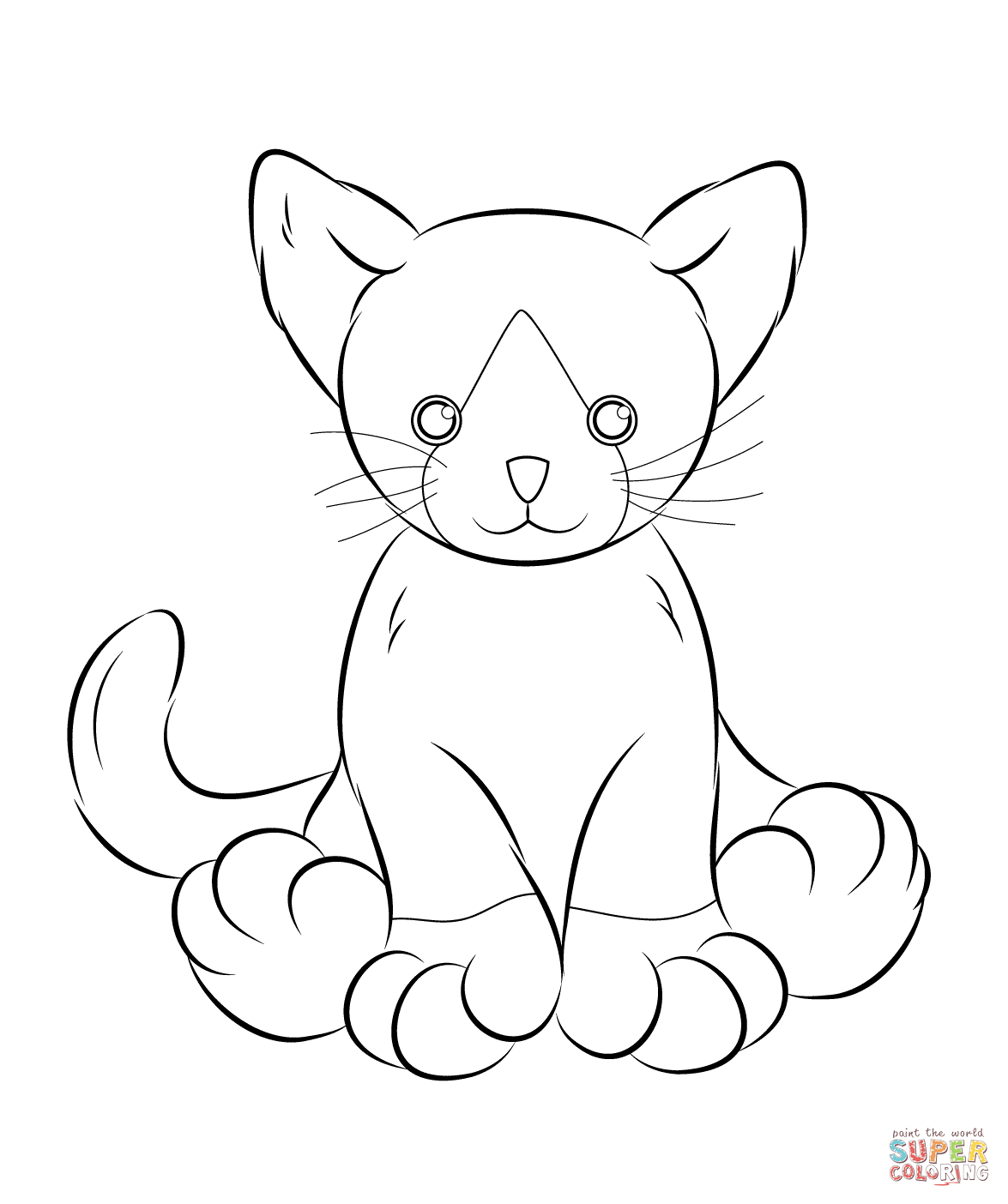 Webkinz Cat Coloring Page