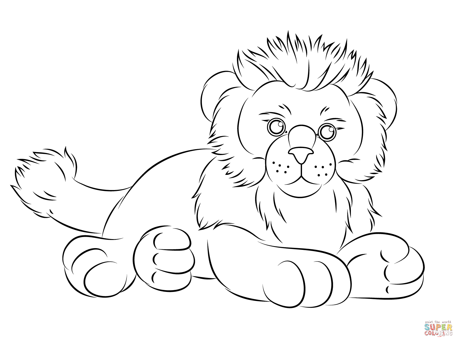 Webkinz Lion Coloring Page