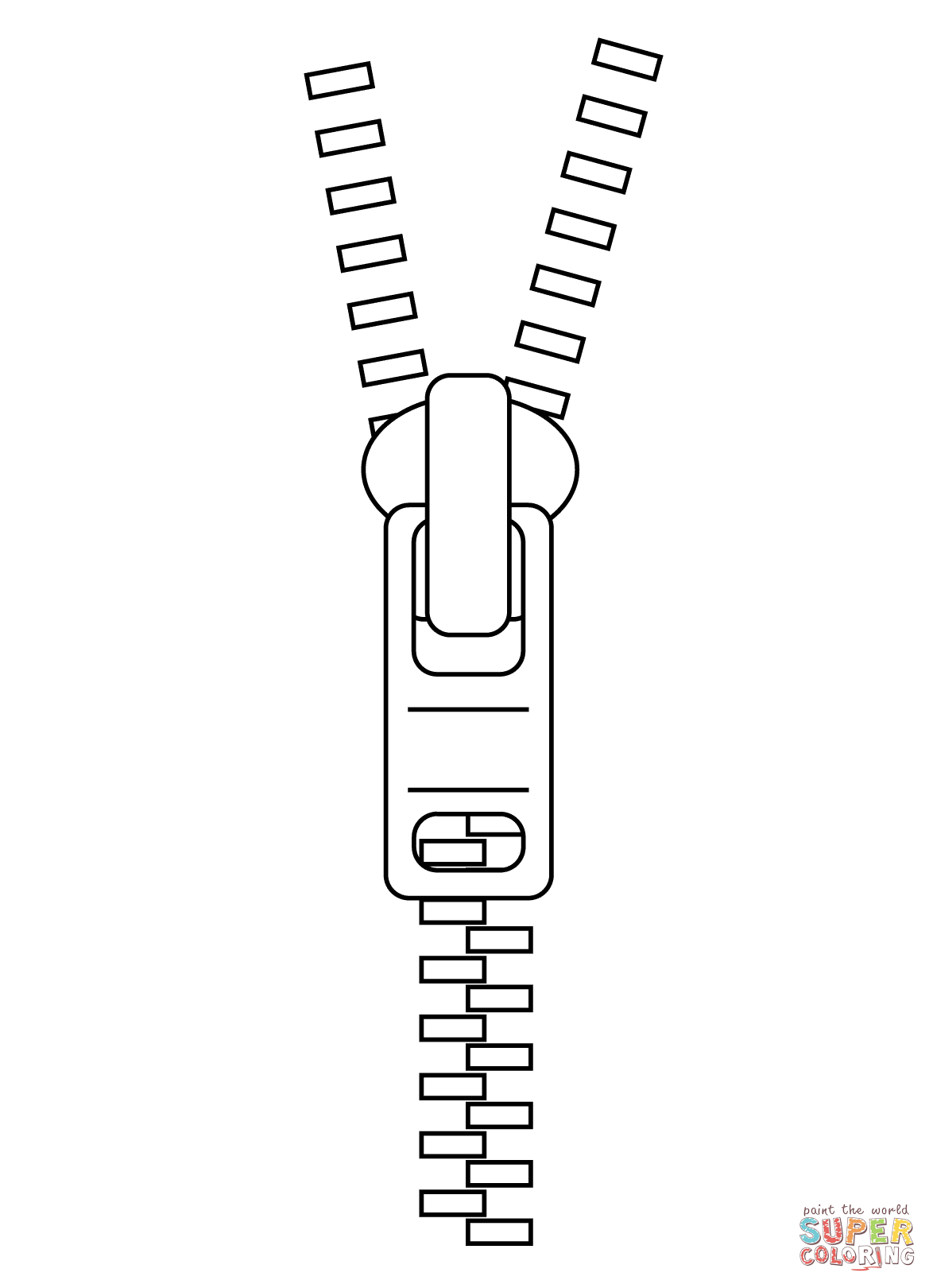 Zipper Coloring Page