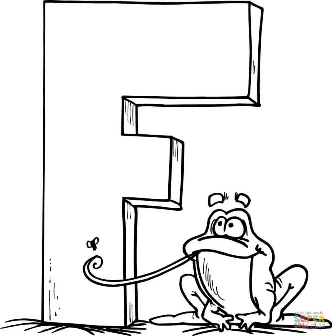 Click The Letter F Is For Frog Coloring Pages