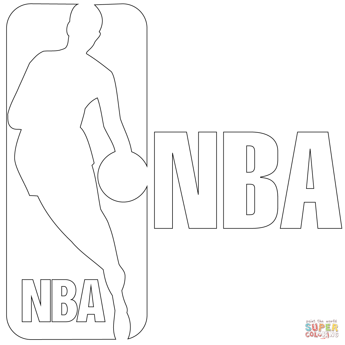 nba logo coloring page free printable coloring pages